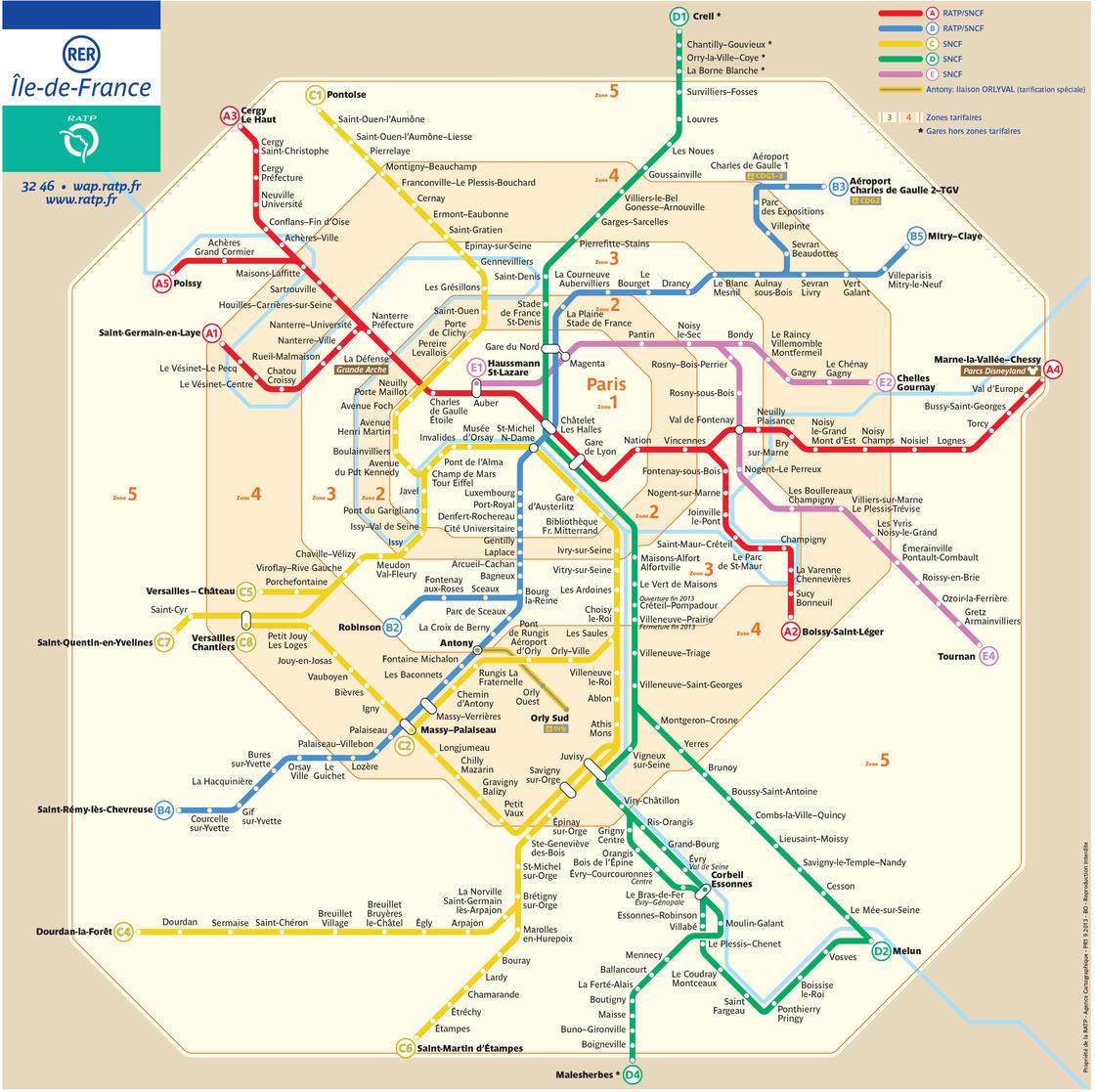 Metro Og Kort Over Paris